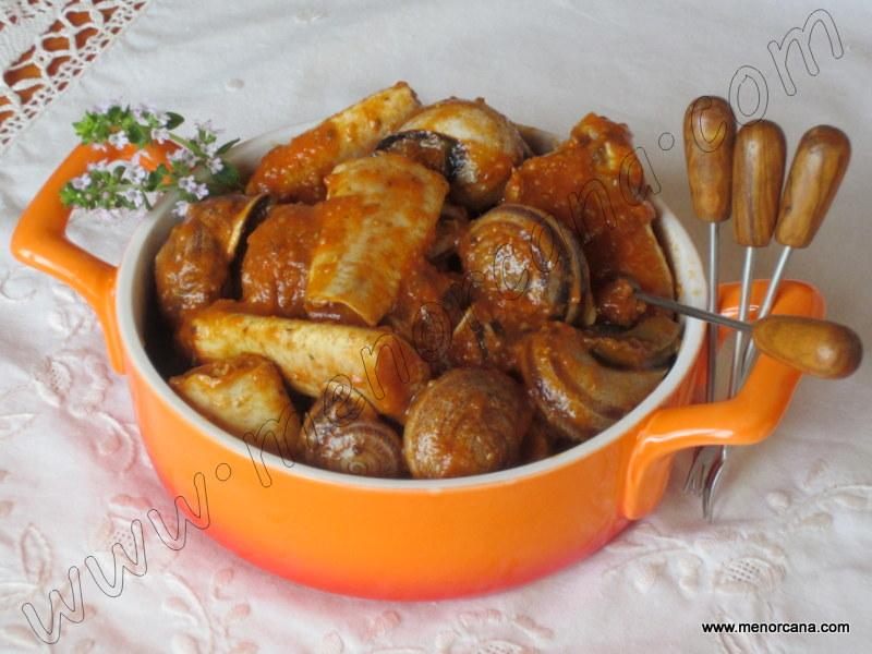 Cuina menorquina - Caragols amb cranca