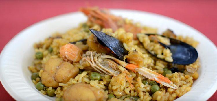 Paella Marinera. Productos de Menorca