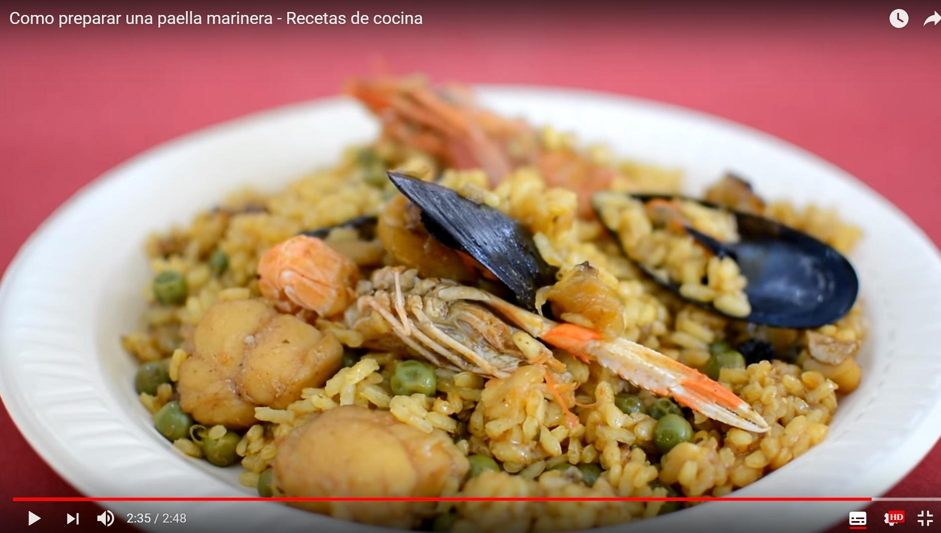 Cómo preparar Paella Marinera. Productos de Menorca