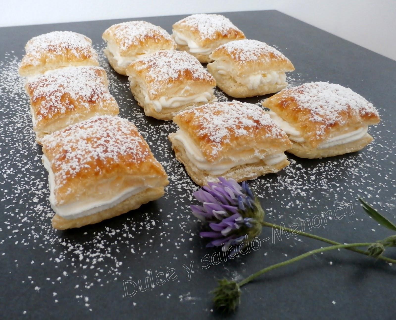 Cómo preparar Hojaldritos rellenos de merengue