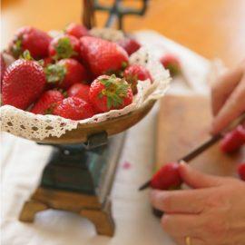 Cómo preparar Plum-Cake de fresones con leche de oveja