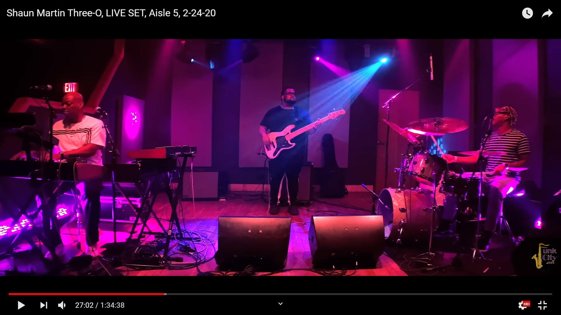 Shaun Martin Three-O en directo