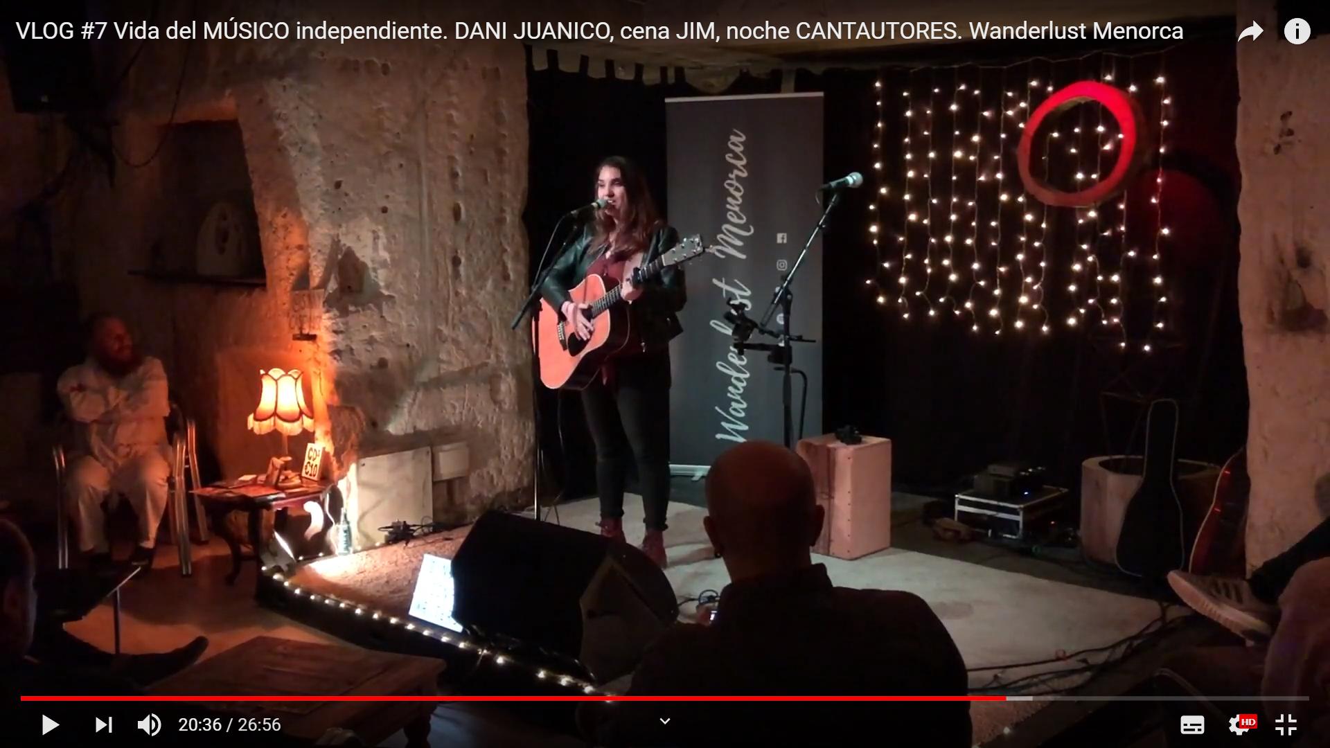 VLOG #7 Vida del MÚSICO independiente. DANI JUANICO, cena JIM, noche CANTAUTORES.