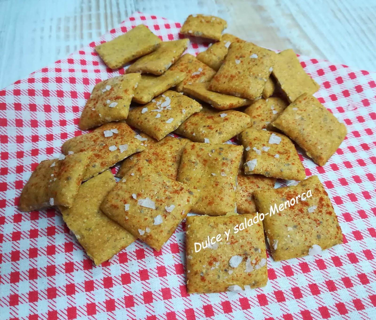 Cómo preparar crackers de garbanzo y pimentón