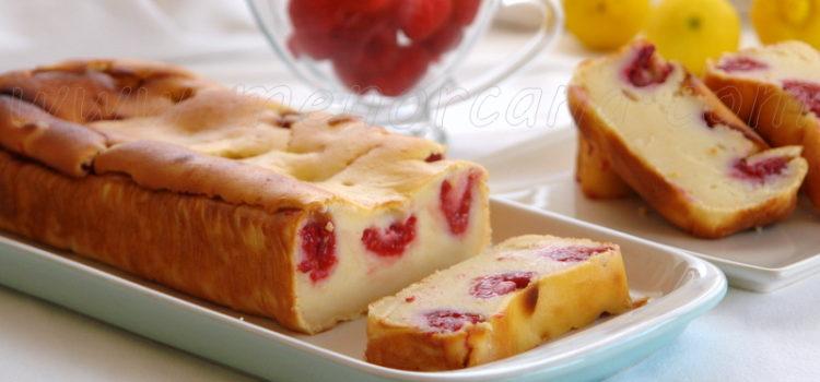 Cómo preparar pastel de ricotta y frambuesas