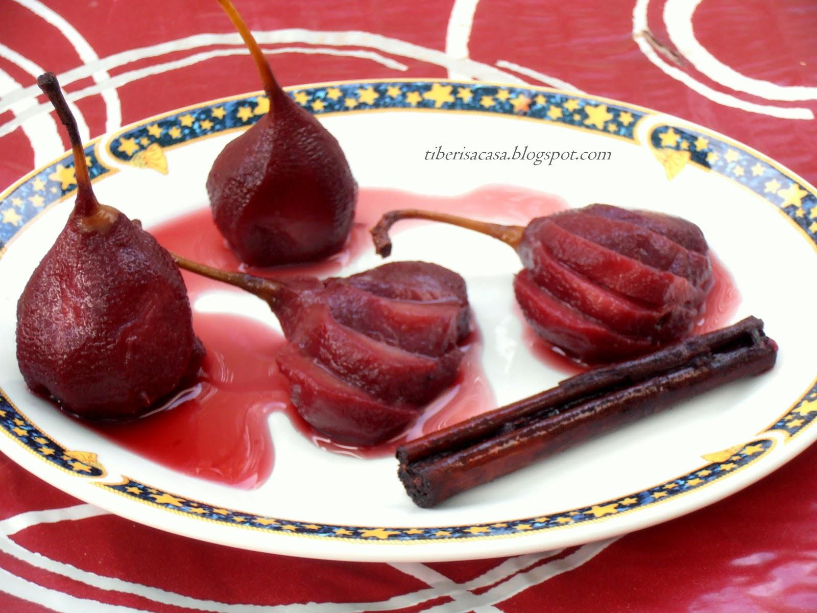 Cómo preparar peras al vino