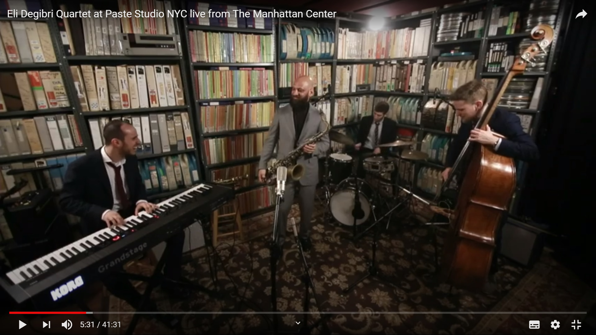 Eli Degibri Quartet at Paste Studio NYC live from The Manhattan Center