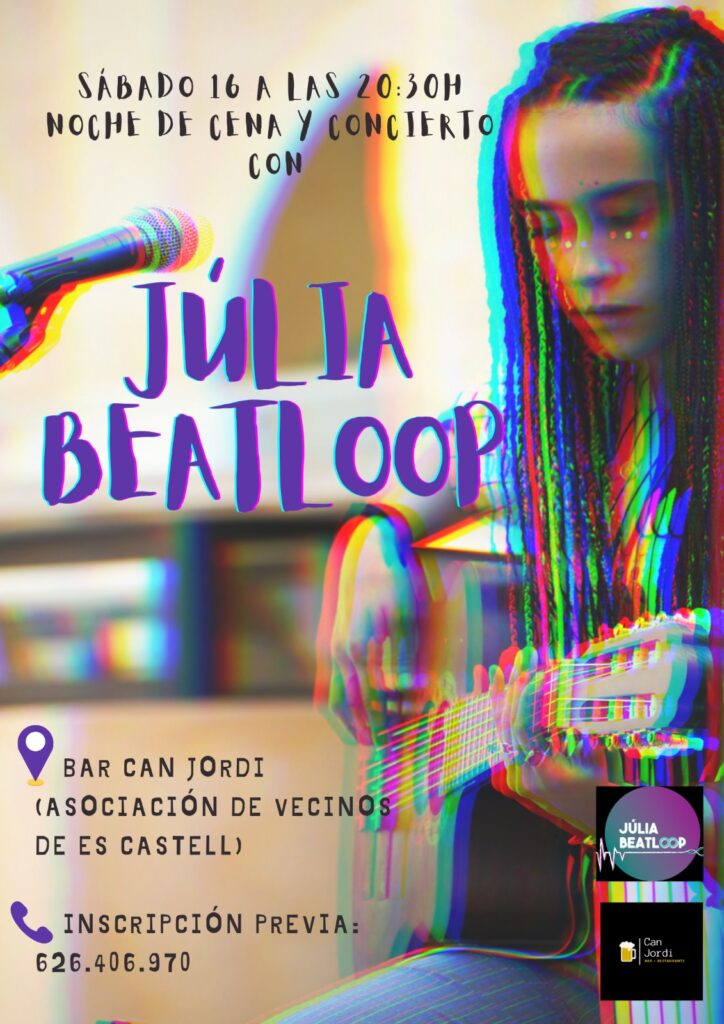 CENA Y CONCIERTO CON JULIA BEATLOOP