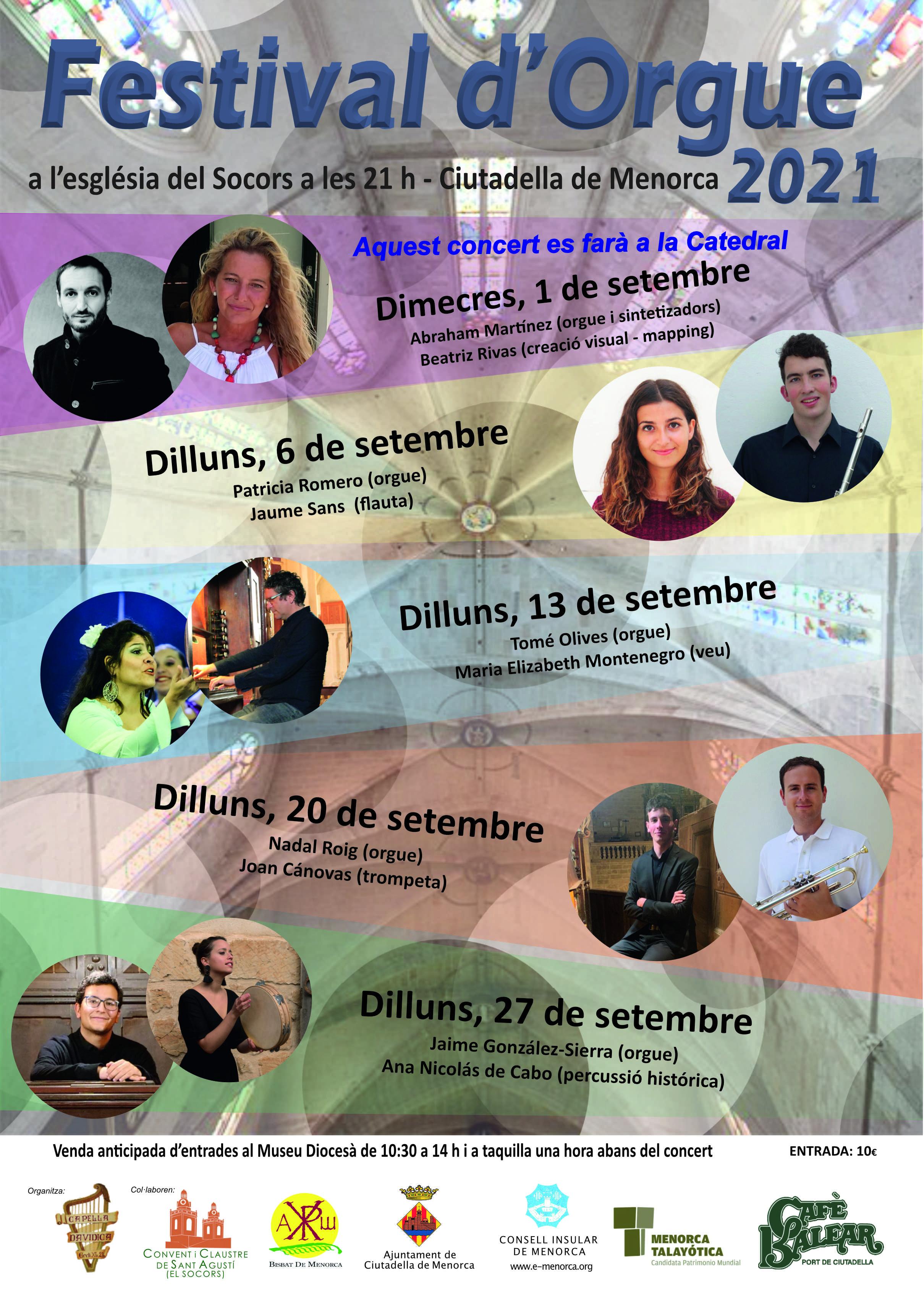 FESTIVAL D'ORGUE 2021 - CIUTADELLA